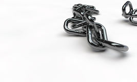 Chrome chain. Isolated on white background Stock Images