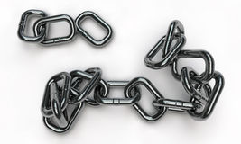 Chrome chain Royalty Free Stock Photos