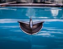 Chrome Chevrolet Bel Air Emblem royalty free stock image