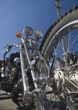 Chrome Chopper. Bottom-up view of chopper Royalty Free Stock Photography