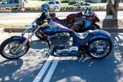 Chrome Chopper Bike Immagini Stock