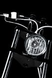 Chrome chopper handlebars Royalty Free Stock Image