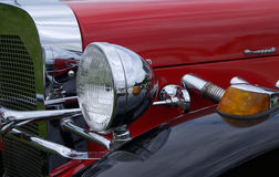 Chrome classic. Custom car restored Royalty Free Stock Image