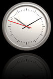 Chrome Clock Royalty Free Stock Photography