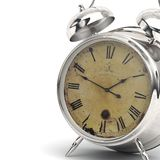 Chrome clock alarm Royalty Free Stock Photography