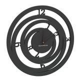 Chrome clock alarm. Isolate on white Royalty Free Stock Images