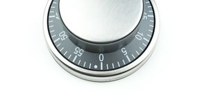 Chrome control dial Stock Photos
