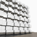 Chrome cube Royalty Free Stock Image