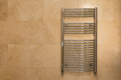Chrome Curved Towel Radiator Royalty Free Stock Photography