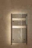 Chrome Curved Towel Radiator Stock Photography