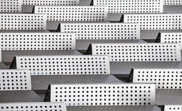 Chrome 3d background abstract modern pattern dots barriers Stock Images