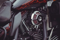 Chrome-de filter van de motorfietslucht Stock Fotografie