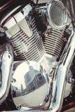 Chrome-de filter van de motorfietslucht en de motor Stock Afbeelding