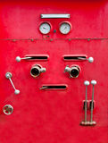 The Chrome dials and valves Stock Image