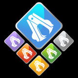Chrome Diamond Icons - Staple Remover Royalty Free Stock Photography