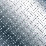 Chrome Diamond Plate Realistic Vector Graphic illustration vektor illustrationer