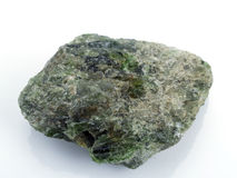 Chrome diopside. Photographie stock