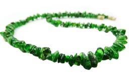Chrome diopside gemstone beads necklace jewelery Stock Photos