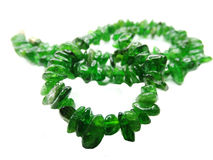 Chrome diopside gemstone beads necklace jewelery Royalty Free Stock Photos