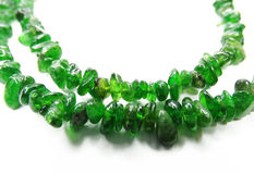 Chrome diopside semiprecious beads necklace Stock Images
