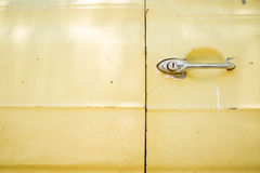 Chrome door handle of old car Royalty Free Stock Images