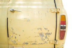 Chrome door handle of old car Stock Photos