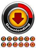 Chrome download buttons Stock Photos
