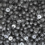 Chrome dumbbell background Stock Photos