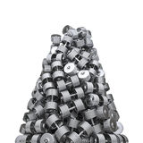 Chrome dumbbell peak Royalty Free Stock Images