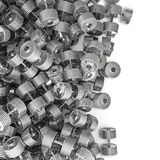 Chrome dumbbell spill Stock Images