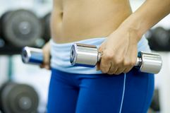 Chrome Dumbbells 4 Royalty Free Stock Image