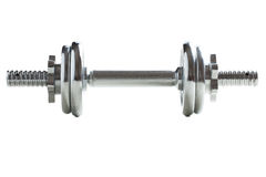 Chrome dumbell Stock Images