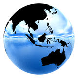 Chrome earth reflecting sky & water Stock Photography