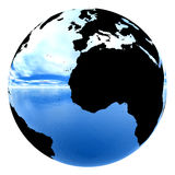 Chrome earth reflecting sky & water Royalty Free Stock Photos