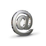 Chrome email symbol Stock Photo