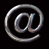 Chrome email Symbol with Paths Royalty Free Stock Photo