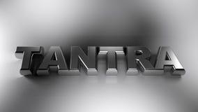 Chrome en métal de TANTRA sur la surface blanche - rendu 3D Photos libres de droits