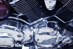 Chrome engine Stock Image