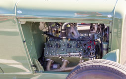 Chrome Engine Cover Royalty Free Stock Photos