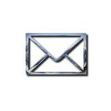 Chrome envelope symbol Stock Image