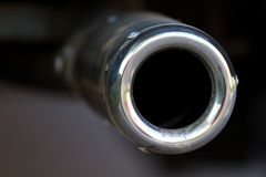 Chrome exhaust pipe Royalty Free Stock Photo