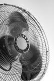 Chrome fan detail. Working electric chrome fan detail Royalty Free Stock Photo