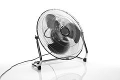 Chrome fan front angle view Royalty Free Stock Photography