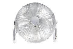 Chrome fan isolated Stock Image