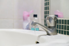 Chrome faucet. Royalty Free Stock Photos