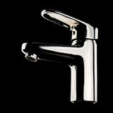 Chrome faucet. Modern chrome faucet on black background. With clipping path Stock Photography