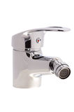 Chrome faucet with a swivel head. Chrome faucet water tap with a swivel head on an isolated background cutout Stock Photography