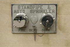 Chrome fire sprinkler Stock Image