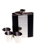 Chrome flask for drinks Stock Image