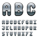 Chrome font alphabet Royalty Free Stock Image